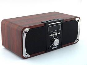 Портативная Bluetooth колонка акустическая Atlanfa AT-1833ВТ, FM, 12W + USB и функцией Power Bank