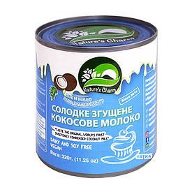"""Сладкое сгущеное кокосовое молоко """"Natures Charm"""" 320 г"""