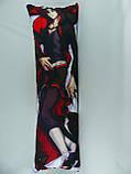 Подушка для обнимания 150 х 50 Чжун Ли и Утати Утиха (Uchiha / Zhongli) Дакимакура аниме обнимашка ростовая, фото 2