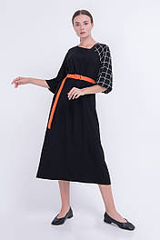 Стильное черное платье из  штапеля Lesya Амуа 3