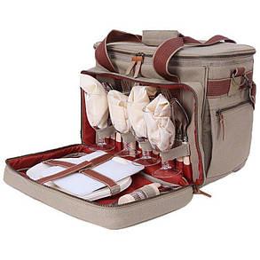 Набір для пікніка KingCamp Picnic Bag-4 (KG3798) Brown, фото 2