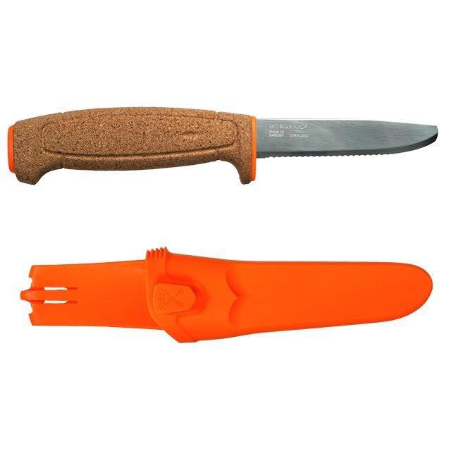 Ніж Morakniv Floating Serrated Knife, нержавіюча сталь,  пробкова ручка, 13131