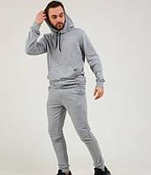 Спортивный костюм мужской весенний осенний серый худи + штаны Турция. Живое фото. Чоловічий спортивний костюм, фото 1