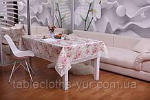 Скатерть Праздничная с Кружевом 110-150 3D «Beautiful» Прямоугольная №18