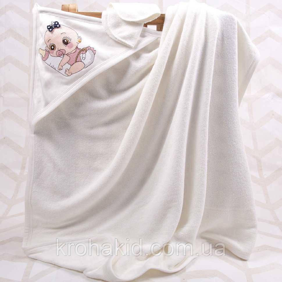 Дитячий рушник-куточок для купання / рушник з капюшоном / дитячий рушник з куточком 90х90 см