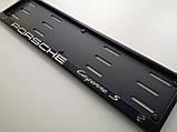 Номерная рамка для авто Porsche Cayenne S black, фото 3