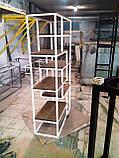 Стеллаж книжный MESS в стиле Лофт большой 1200x350x1800 полки из ламинированного ДСП, фото 6