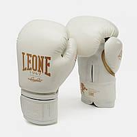 Боксерские перчатки Leone (Леоне) Black and White Boxing Gloves (тренировочные) БелыеИталия