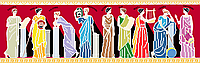 Схема частичной вышивки бисером Сб-2-233 Греческие богини