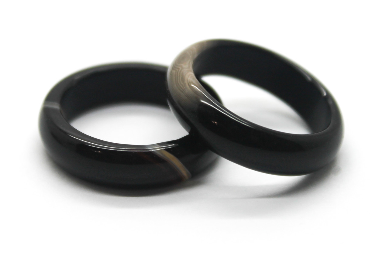 Агат. Кольцо из натурального камня