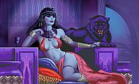 Схема для вишивки бісером Сб-1-521 Східна цариця і пантера