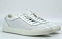 Мужские летние кроссовки белые кожаные кеды обувь Rosso Avangard Ada White PerfLeath TPR, фото 1