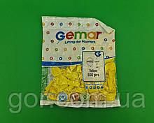 """Повітряні кульки пастель жовтий 5"""" (13 см) 100 шт Gemar (1 пач.)"""