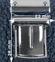 Барсеточный замок 6065 никель (мм/мм)