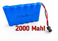 2000 mah Батарея Акамулятор Аккумулятор для игрушки на 7.2 вольта, аккамулятор 7,2 V вольт игрушек пульту р у