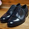 Сині шкіряні туфлі ІКОС 57, фото 2