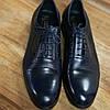 Сині шкіряні туфлі ІКОС 57, фото 3