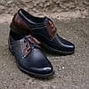 Туфлі Brogue сині з коричневим, фото 2
