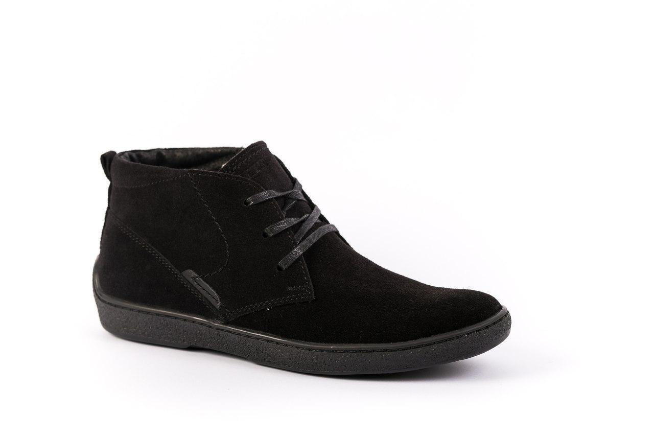 Ботинки замшевые черные Safari