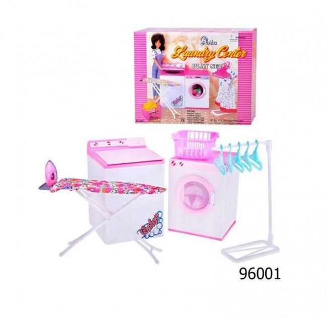 Игрушечная стиральная машина для кукол. Набор детская бытовая техника арт.96001