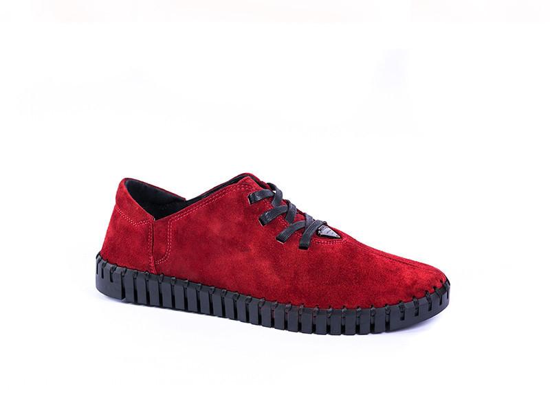 Мокасини Prime shoes нубук, червоні