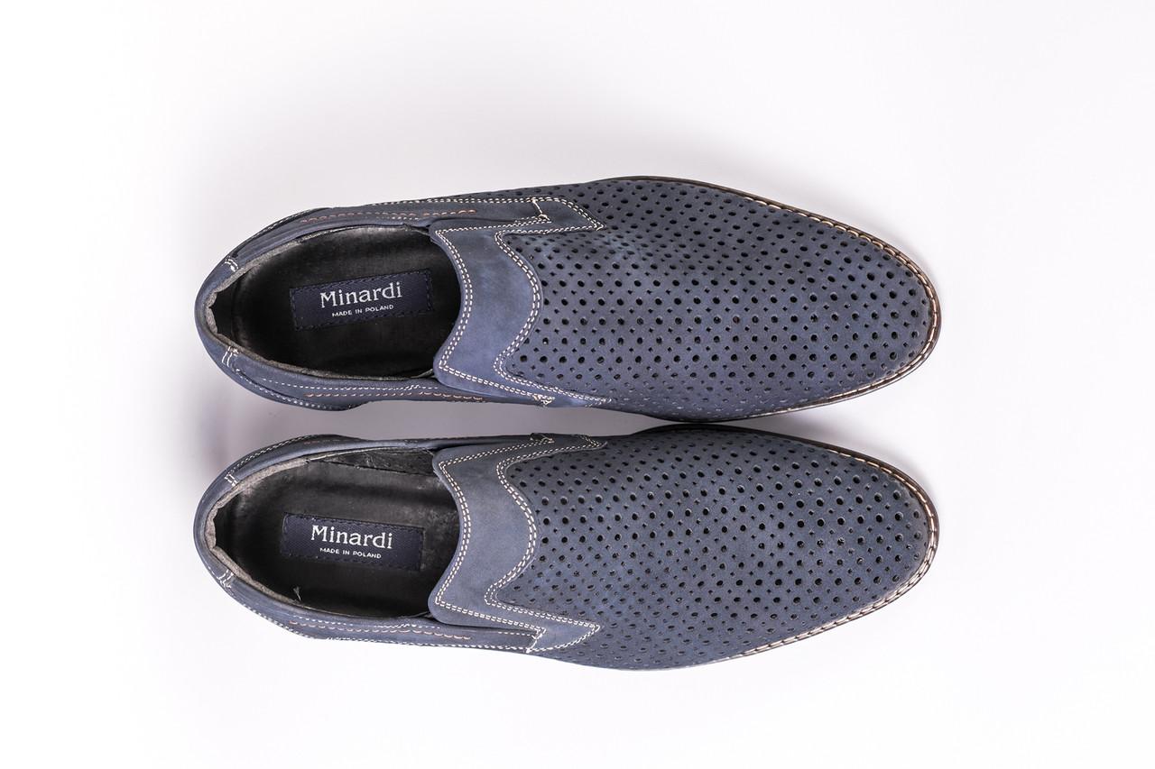 Туфлі літні Minardi сині - 42 розмір