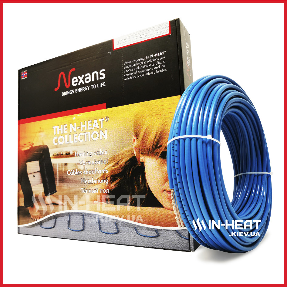 Двухжильный греющий кабель Nexans, TXLP/2R, 72.4 м / 7.2 - 9.1 м² / 1250 Вт
