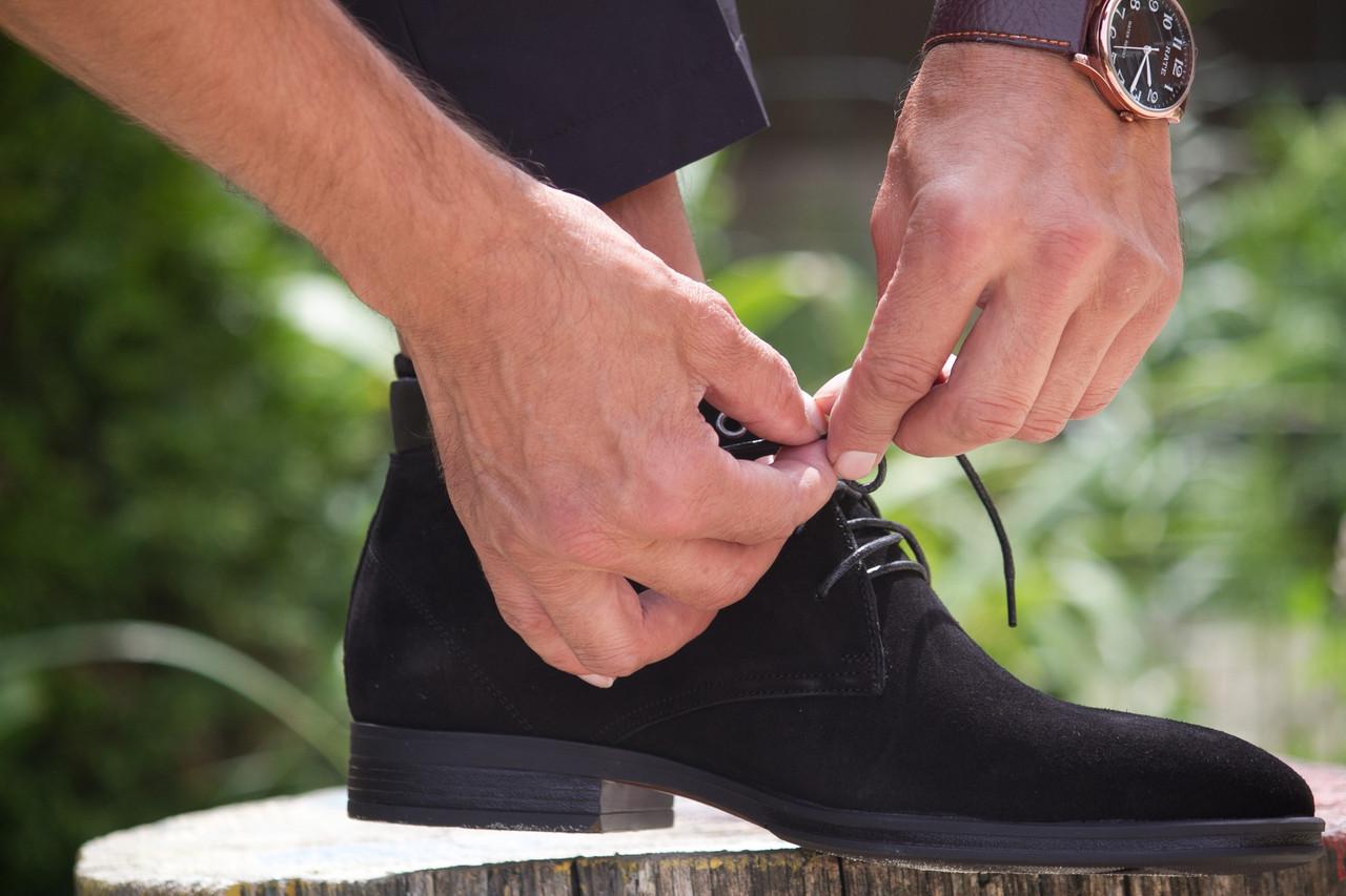 Чоловічі зимові черевики чорні IKOS
