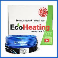 Нагревательный кабель EcoHeating 20 / 10 м / 1 - 1.2 м² / 200 Вт / электро пол с подогревом, фото 1