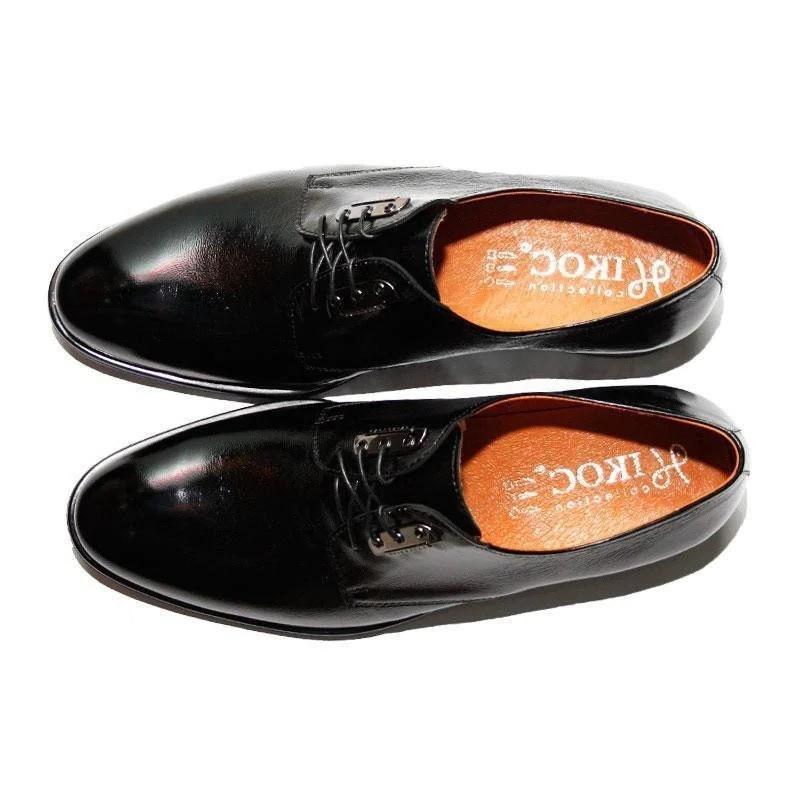 Туфлі дербі Ікос, чорні наплак