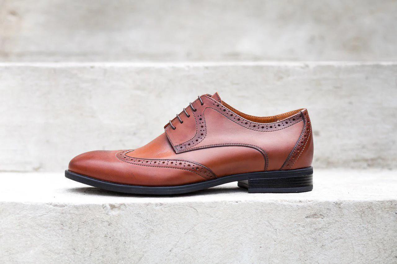 Туфлі броги коричневі Ікос 12