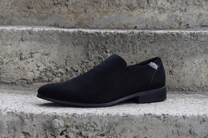 Туфлі замшеві, чорні