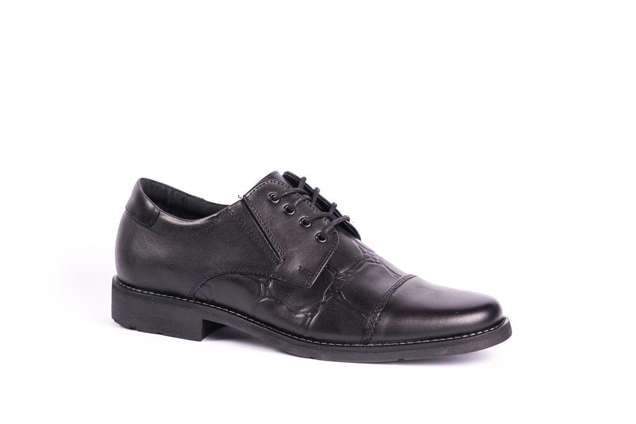 Шкіряні чорні туфлі Pan Польського виробництва - 41-42 розмір