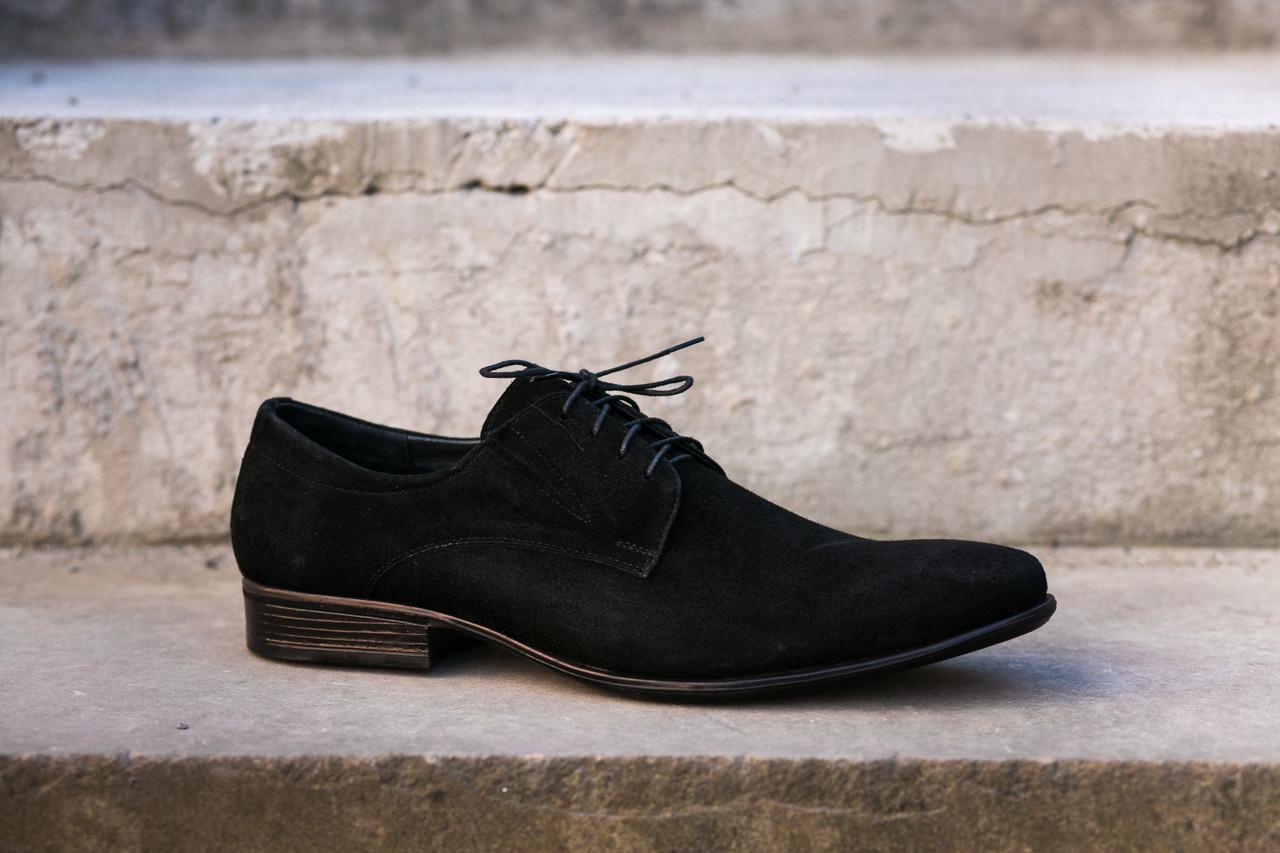 Замшеві чоловічі туфлі 46-47 розміри