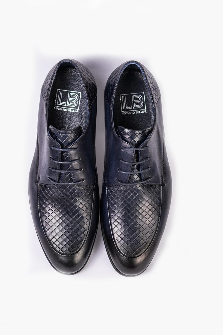 Сині чоловічі ШКІРЯНІ туфлі.