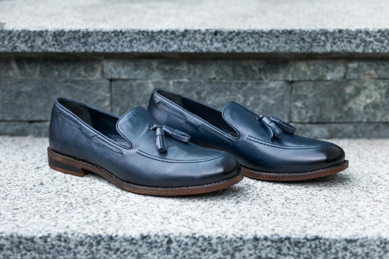 Туфлі лофери, сині.