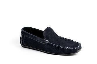 Замшеві Мокасини Prime shoes сині