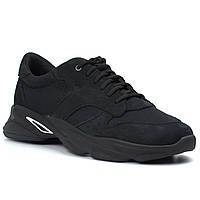 Кроссовки мужские летние сетка нубук дышащая обувь больших размеров Rosso Avangard ReBaKa PerfNub SE Black BS