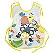 Слинявчик непромокальний для їжі з кишенею / м'який нагрудник для малюка з кишенею, фото 5