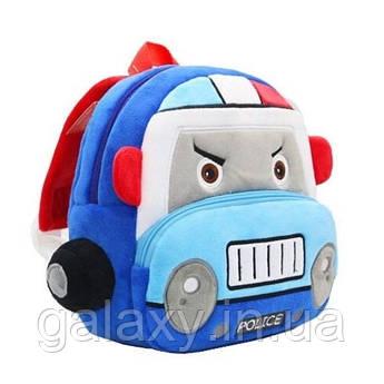 Рюкзак Police детский плюшевый для мальчика сумка в садик на 3 - 5лет Полиция