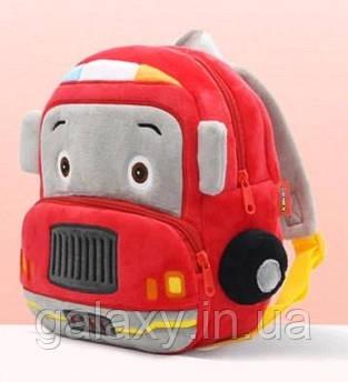 Рюкзак дитячий велюровий Car Пожежна Машина для хлопчика
