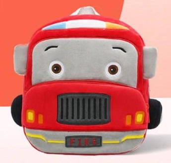 Рюкзак детский велюр Пожарная Машина
