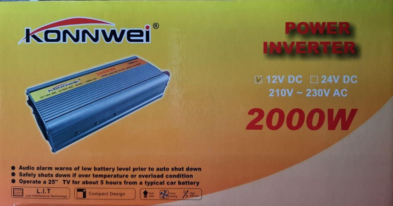 Konnwei Преобразователь напряжения (инвертор) 12v -220v,2000w