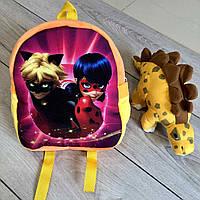 Дитячий яскравий рюкзак для дівчинки «Леді» (24 см)