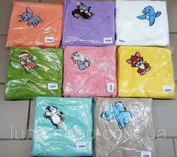 Рушник для купання дитини, 90х90, різні кольори, Туреччина, 380г/м2, бавовна 100%