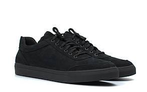 Кросівки чоловічі з нубука демісезонні взуття великих розмірів Rosso Avangard Ada Black Nub TPR BS