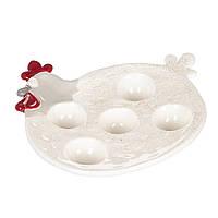 Блюдо для яиц Курочка 21х22 см 1005AP