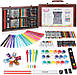 Набір для дитячої творчості у дерев'яній валізі з 123 предметів | Набір для малювання, фото 6