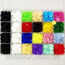 Кнопки пластикові кольорові в органайзері (280 компл.) (СИНДТЕКС-0871)