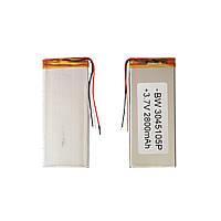Аккумулятор универсальный 3045105P 4.5 cm х 10.05 cm 3.7v 2800 mAh